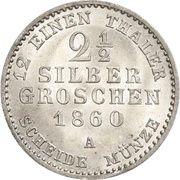 2½ Silbergroschen - Paul Friedrich Emil Leopold III – revers
