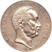 2 thaler / 3½ gulden - Paul Alexander Leopold II – avers