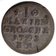 1 mariengroschen Friedrich Wilhelm Leopold – revers