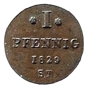 1 Pfennig - Paul Alexander Leopold II – revers