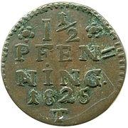 1½ Pfenning - Paul Alexander Leopold II – revers