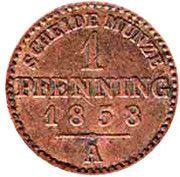 1 Pfenning - Paul Friedrich Emil Leopold III – revers