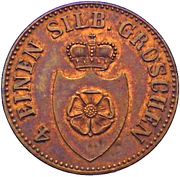 3 Pfenninge - Paul Alexander Leopold II – avers