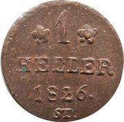 1 heller Paul Alexander Leopold II – revers
