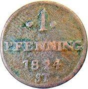 1 Pfenning - Paul Alexander Leopold II – revers