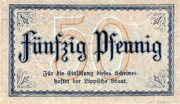 50 Pfennig (Lippe, Principality of) – revers