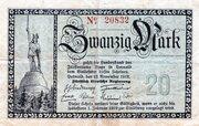 20 Mark (Landesbank des Fürstentums Lippe) – avers