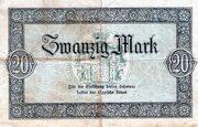 20 Mark (Landesbank des Fürstentums Lippe) – revers