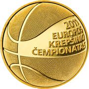50 litų (European Basketball Championship) – revers