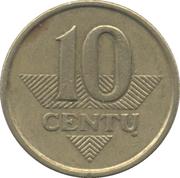 10 centų -  revers