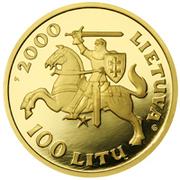 100 litų (Vytautas, the Grand Duke of Lithuania) – avers