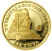 100 litų (Vytautas, the Grand Duke of Lithuania) – revers
