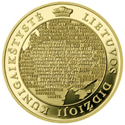 100 litų (Millennium of the mention of the name of Lithuania) – revers