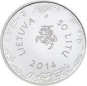 50 litų (300th anniversary of the birth of Kristijonas Donelaitis) – avers