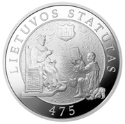50 litų (475th Anniversary of the First Statute of Lithuania) – revers