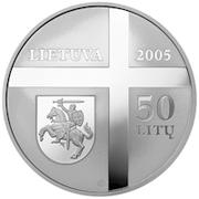 50 litų (Cardinal Vincentas Sladkevičius (1920–2000)) – avers