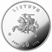 50 litų (XXIX Olympic games) – avers