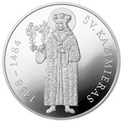 50 litų (550th Birth Anniversary of St Casimir) – revers