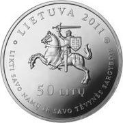 50 litų (150th birth Anniversary of Gabrielė Petkevičaitė-Bitė) – avers