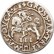 3 Grosze - Zygmunt II August (Lithuania) – revers