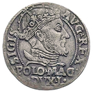Grosz litewski - Sigismond II Auguste (différent polonais - 1er type) – avers
