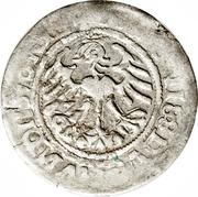 Półgrosz - Zygmunt I (Lithuania) – revers