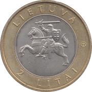 2 litai (Puntukas) – avers