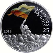 50 litų (Lithuanian Sąjūdis) – revers