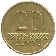 20 centų -  revers