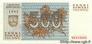 500 Talonu – avers