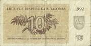 10 Talonas 1992 -  avers