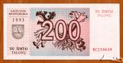 200 Talonų – avers