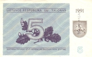 5 Talonas – avers