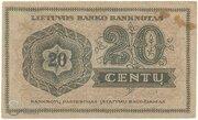 20 Centu – revers