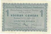 1 Centas (Lithuania) – avers