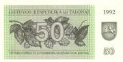 50 Talonas – avers