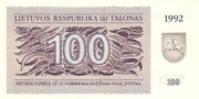 100 Talonas – avers