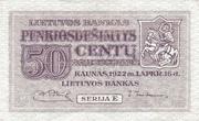 50 Centu – avers