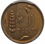 10 centu (Essai) – revers