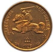 1 centas (Essai d'avers) – avers