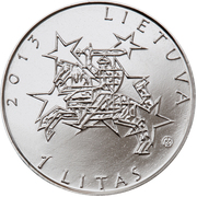 1 litas (Présidence de l'UE) – avers