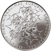 1 litas (Présidence de l'UE) – revers