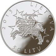 50 litų (Presidency of the EU Council) – avers