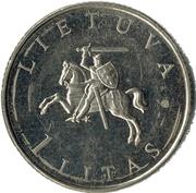 1 litas -  avers