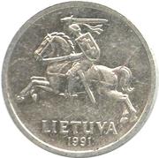 1 centas -  avers
