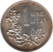 1 litas -  revers