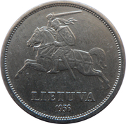 5 litai (Jonas Basanavičius) – avers