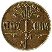 1 centas – revers