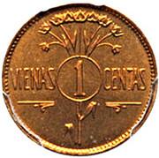 1 centas (Essai) – revers