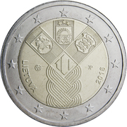 2 euros Indépendance des Pays-baltes -  avers